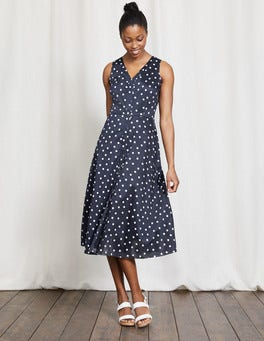 Navy Polka Dot Josephine Dress