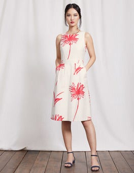Ivory Stencil Floral Evelyn Dress