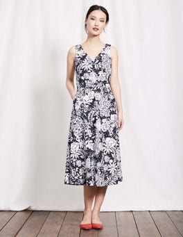 Navy Fresco Floral Vanda Dress