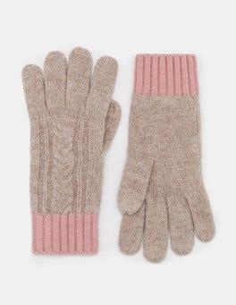 Chinchilla Melange/Milkshake Cable Knit Gloves