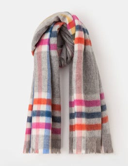 Wool Check Scarf