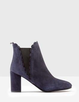 Navy Alnwick Ankle Boots