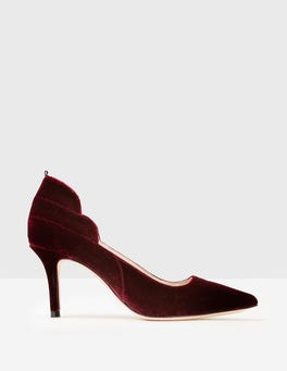 Dark Burgundy Carrie Mid Heel Pumps