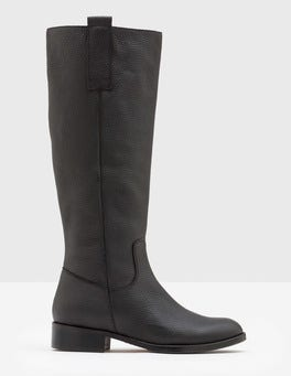 Black Shetland Knee High Boots