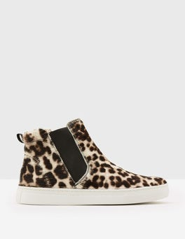 Snow Leopard Josie High Top Sneakers