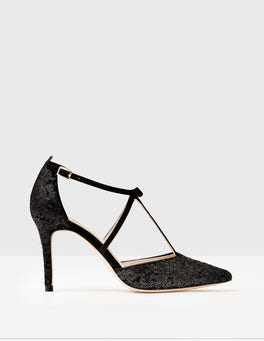 Black Sequin Jennifer T-Bar Heels