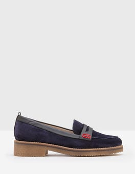Navy Penelope Loafers