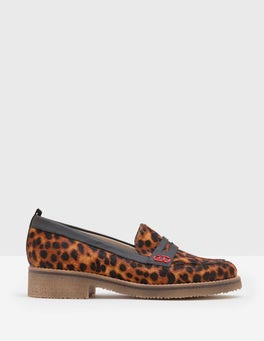 Tan Leopard Penelope Loafers