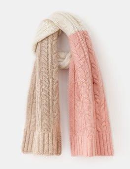Milkshake/Chinchilla Cable Knit Scarf
