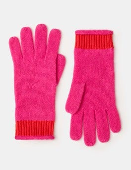 Party Pink Cashmere Gloves