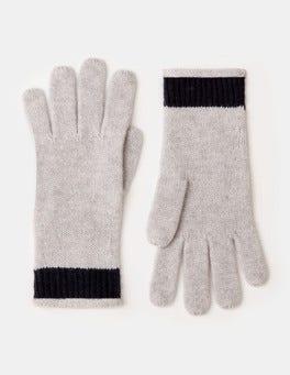 Silver Melange Cashmere Gloves