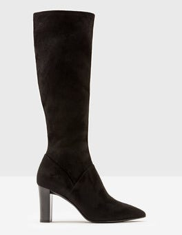 Black Pointed Stretch Boots