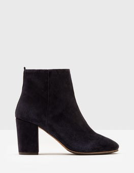 Navy Etta Ankle Boots