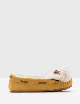 Pompom Moccasin Slippers