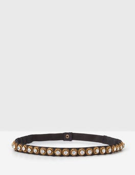 Black Embellished Belt