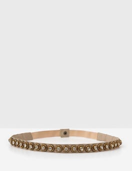 Light Gold Embellished Belt