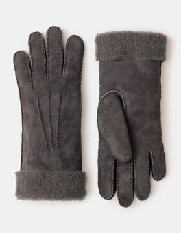 Pewter Shearling Gloves