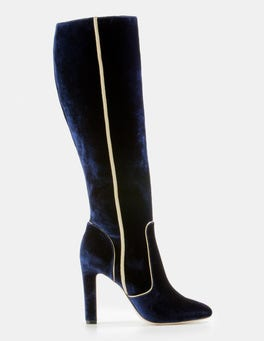 Rich Navy Adele Knee High Boots
