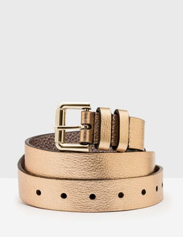 Pale Gold Metallic Classic Belt