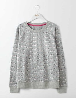 Grey Marl Swans Make-A-Statement Sweatshirt