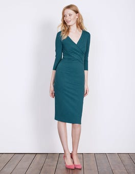 Dark Cyan Connie Ponte Dress