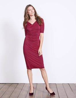 Black Forest Chainmail Rita Ruched Jersey Dress
