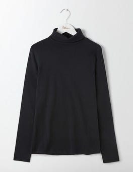 Black Essential Roll Neck