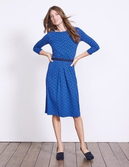 Blues Petal Geo Veronica Jersey Dress