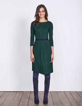 Emerald Night Petal Geo Veronica Jersey Dress