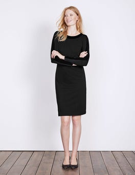 Black Ingrid Ponte Dress