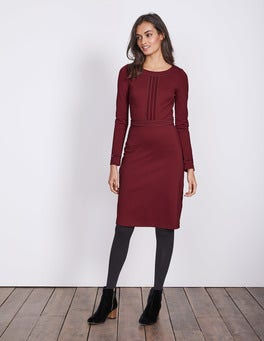 Wine Gisele Ponte Dress