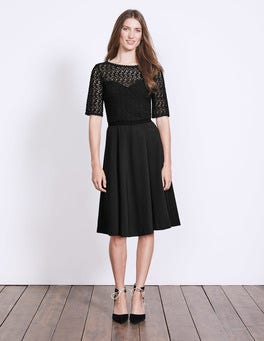 Black Lisa Ponte Dress