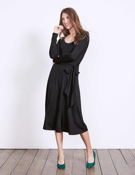 Black Silvia Jersey Dress
