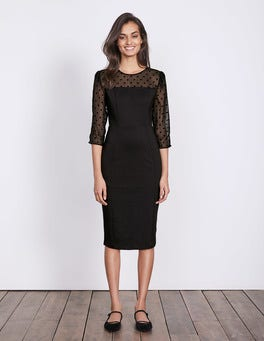 Black Isabella Ponte Dress