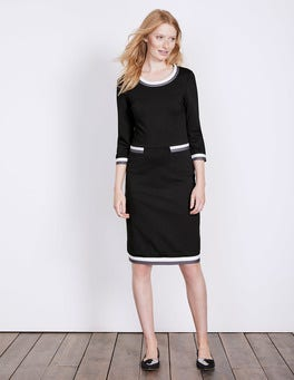 Black Gloria Ponte Dress