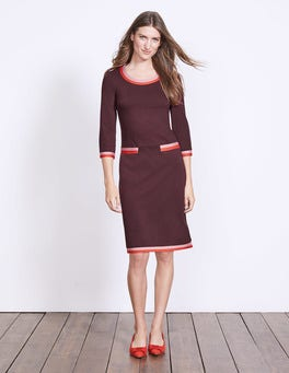 Dark Burgundy Gloria Ponte Dress