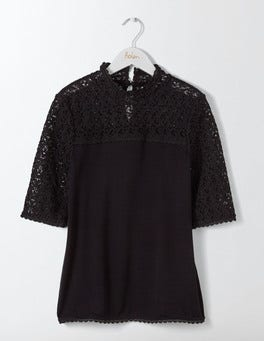 Black Seraphina Lace Top