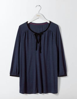 Navy Laila Jersey Top