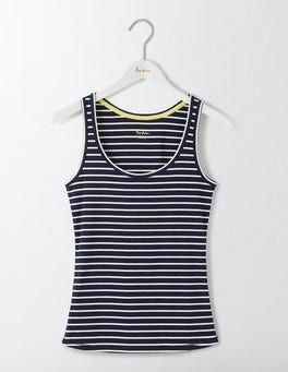 Navy/Ivory Stripe Essential Tank