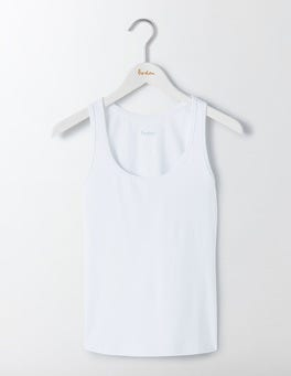 White Essential Vest