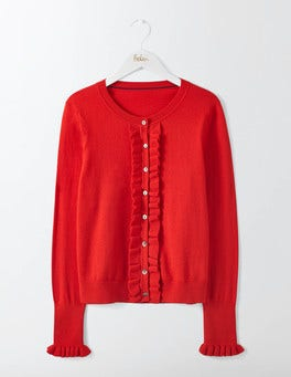 Post Box Red Bernadette Cardigan