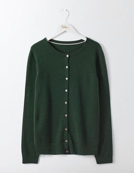 Emerald Night Cashmere Crew Cardigan