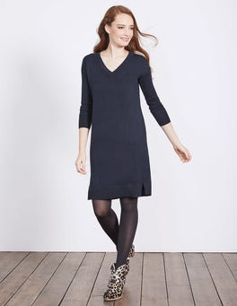 Navy Riley Knitted Dress