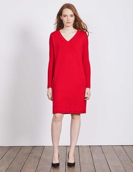 Post Box Red Rowenna Knitted Dress