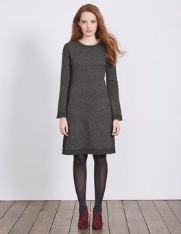 Charcoal Melange Claudie Knitted Dress