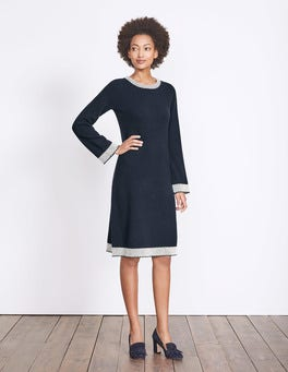 Navy Claudie Knitted Dress