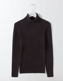 Black Tilly Roll Neck Sweater