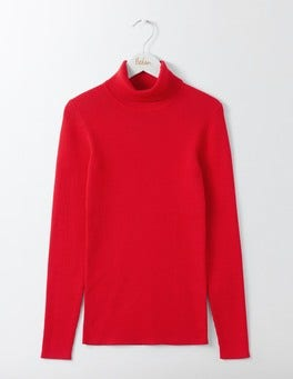 Post Box Red Tilly Roll Neck Jumper