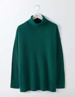 Deep Forest Imogen Roll Neck Sweater