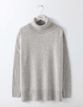 Grey Melange Imogen Roll Neck Jumper
